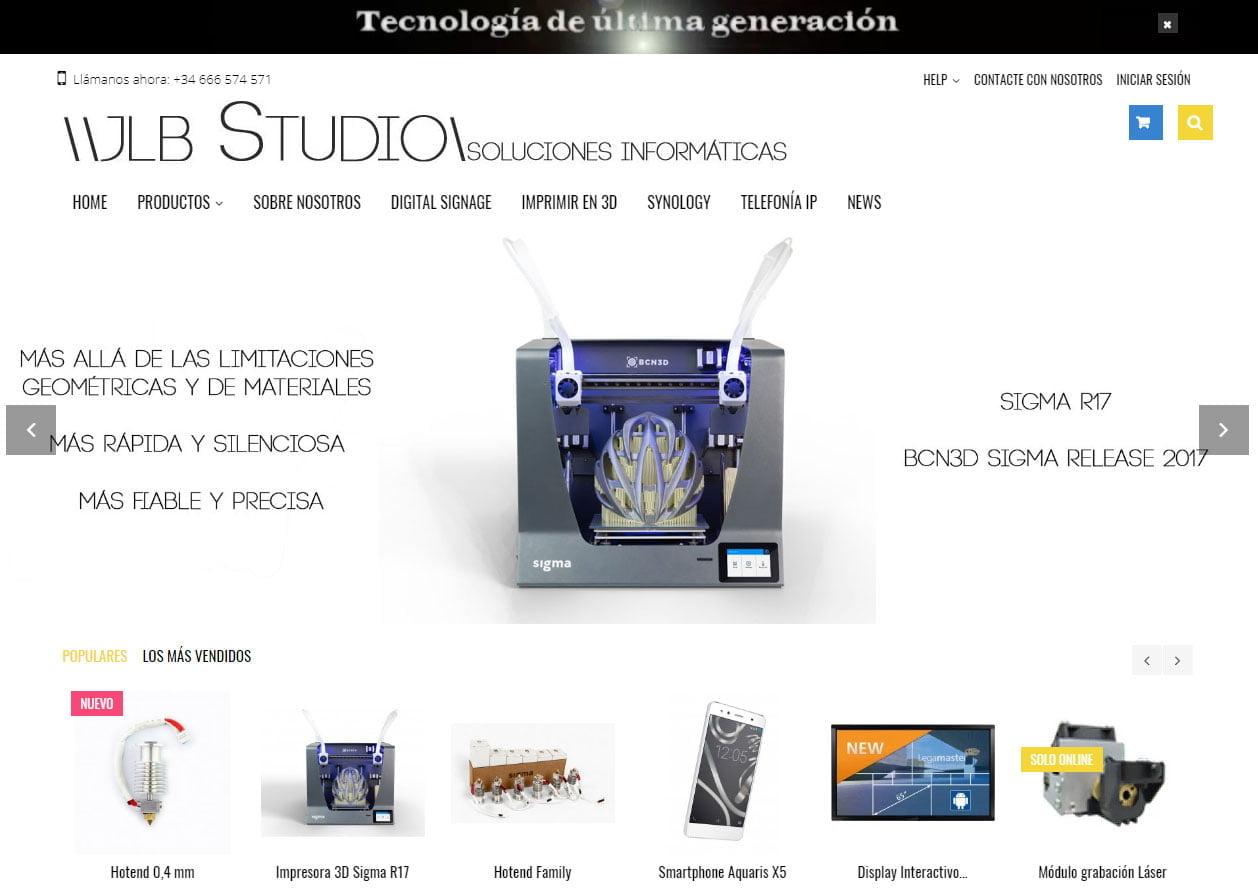 jlb Studio e-Commerce